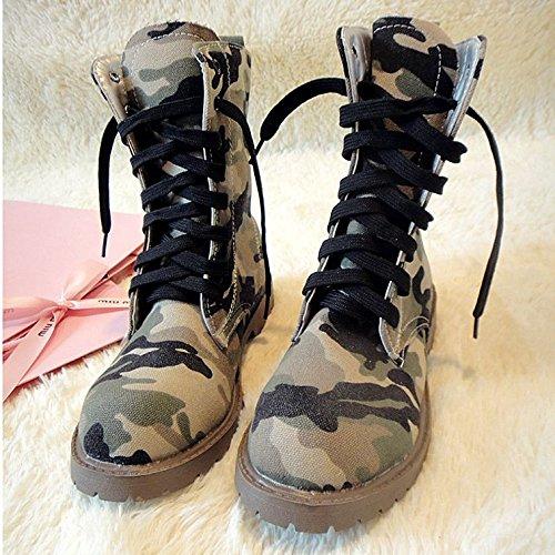 &zhou Maschio Martin stivali autunno e stivali invernali Camouflage moda cotton 1