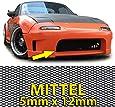 Carparts-Online GmbH 26432 ALU GITTER RENNGITTER WABENGITTER RACEGITTER ALU 150X30CM SCHWARZ MITTEL