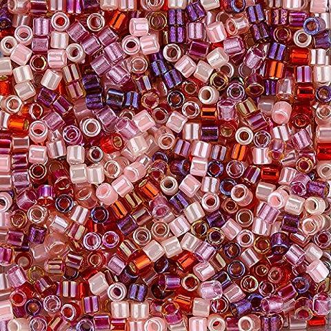 MIYUKI Delica Perles Taille 8/0Mélange Strawberry Fields 6,8g