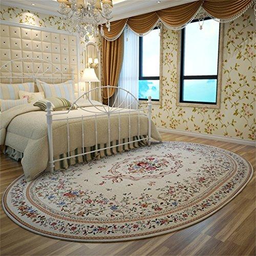 Tappeto classico stile europeo tradizionale divano tavolino da caffè per soggiorno camera da letto ovale tappeto lavabile in lavatrice short pile designer carpet ( colore : beige , dimensioni : 160*230cm )