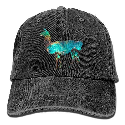 Gym Sports Baseball Cap Llama Lama Glama Galaxy Washed Dyed Cotton Twill Outdoor Adjustable Hats