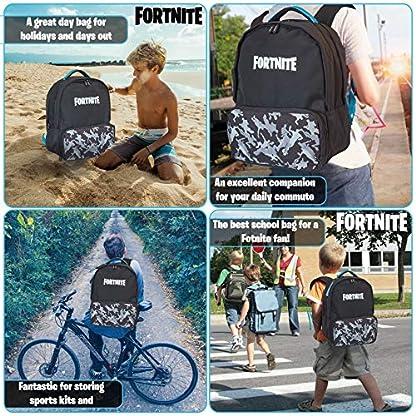 Fortnite Mochilas Escolares Juveniles Para Niños, Mochila de Gran Capacidad Para Colegio, Viajes, Deportes, Universidad, Merchandising Oficial Fortnite, Regalos Para Niños Adolescentes Adultos