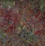 Fabric Freedom Braun Herbst Design 100% Baumwolle Bali Batik Tie Dye Muster Stoff für Patchwork, Quilten &,–(Preis Pro/Quarter Meter)