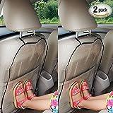 Autositz Rückenschutz, Schutz Autositz Rückenlehne Kinder, Rückenlehnenschutz Auto Kinder, Kick-Matten-Schutz für den Autositz, Transparent Abnehmbare Hängen Auflage Car Seat Cover Kick Matte für Kids