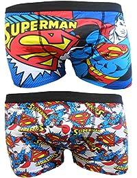 Superman Mens Boxer Trunks Two Pack