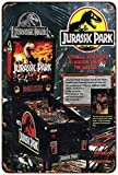 qidushop Jurassic Park Vintage Pinball Machine ad Reproduction Metal Signs Funny Aluminum Sign for Garage Home Yard Fence vialetto 30x 45cm