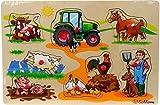 Eichhorn Holz-Steckpuzzle Holz Kinder Puzzle Bauerhof Tiere Fahrzeuge ab 2 Jahre: Farbe: Bauernhof