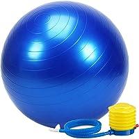 FEGSY Anti-Burst Exercise Gym Ball 75cm with Pump, Anti-Slip Balance Stability Ball, Heavy Duty Fitness Yoga Ball, Extra Thick Swiss Birthing Ball