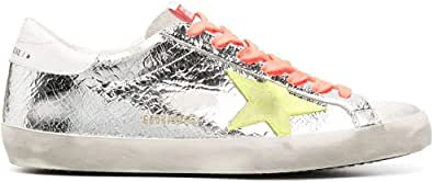 Golden Goose Luxury Fashion Uomo GMF00101F00034280304 Argento Pelle Sneakers   Stagione Permanente