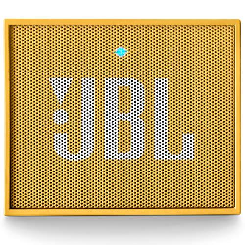 JBL Go Ultra Wireless Bluetooth Lautsprecher (3,5 mm AUX-Eingang, geeignet für Apple iOS und Android Smartphones, Tablets und MP3 geräten) gelb