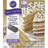 Wilton® Easy Layer Rundes Schichtkuchen-Set, vier Antihaftbleche, 20 cm Ø