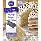 Wilton Round Easy Layers Cake Tin Set, Grey, 4-Piece