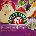 Elephant Infusion Pomme par Magie/Pomme Poire Figue 20 Sachets - 38 g - Lot de 6