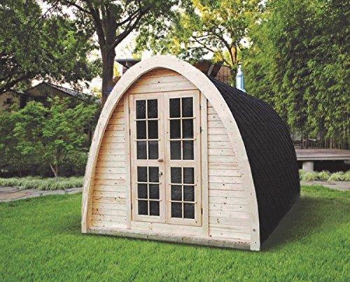Finnische Fass-Sauna in Igluform für bis zu 4Personen, zur Verwendung im Außenbereich CON STUFA ELETTRICA