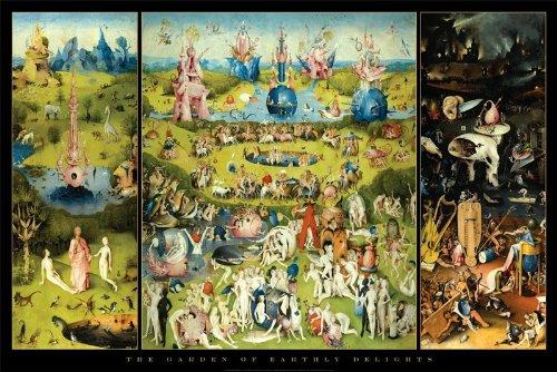 Preisvergleich Produktbild 24 x 36,  Hieronymus Bosch Poster,  Motiv Garten der Lüste