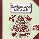 Monochromes de Noël au point de croix