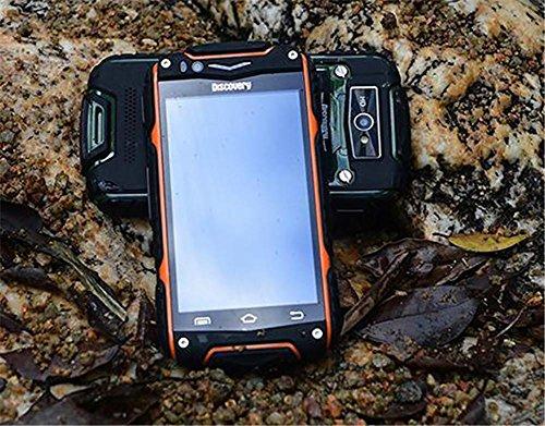 4,0 Zoll Gerade Touchscreen 3G Smartphone Doppelkarte Double-Standby Wasserdicht Erdbeben Staubdicht Mobiltelefon , orange