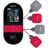 Beurer EM 59 Heat Digital TENS/EMS-enhet, 4-i-1 stimulerande strömanordning för smärtterapi, muskelstimulering, massage och v