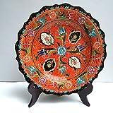 YQOOO Piatto Decorativo Ceramico Dipinto A Mano Piatto Decorativo Appeso Ceramica Piatto Oscillante In Ceramica 25Cm