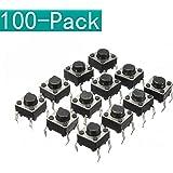 Youmile 100er-Pack 6x6x6 mm Miniatur-Mikro-Taster-Tastschalter Qualitätsschalter SPST Miniature/Mini/Micro/Small PCB