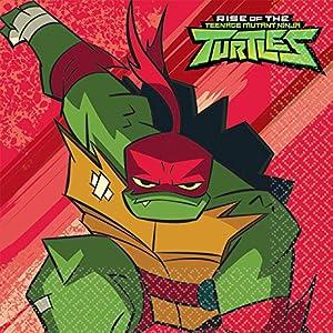 Amscan International Amscan 512209 - Juego de 16 máscaras infantiles, diseño de las Tortugas Ninja