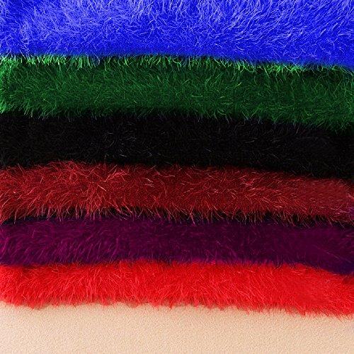 Maglione da Donna,Fluffy Fuzzy Manica Lunga Maglia Mohair Ponticello Jumper Beige