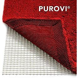 Purovi® Sous-tapis antidérapant pour tapis ou paillassons | Dimensions 200 x 80 cm | Thibaude | Peut être coupé | Tapis antidérapant