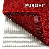 Purovi Sous-tapis antidérapant pour tapis ou paillassons | Dimensions 200 x 80 cm | Thibaude | Peut être coupé | Tapis antidérapant
