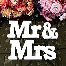 "Rainbow Fox - Letras decorativas, madera, diseño ""Mr & Mrs"""