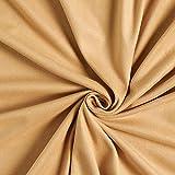Fabulous Fabrics Jersey Suede Stretch – Hellbraun —