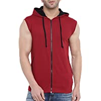 GRITSTONES Men's Maroon/Black Half Sleeves Printed Round Neck T Shirt-GSJKT1793MRNBLK
