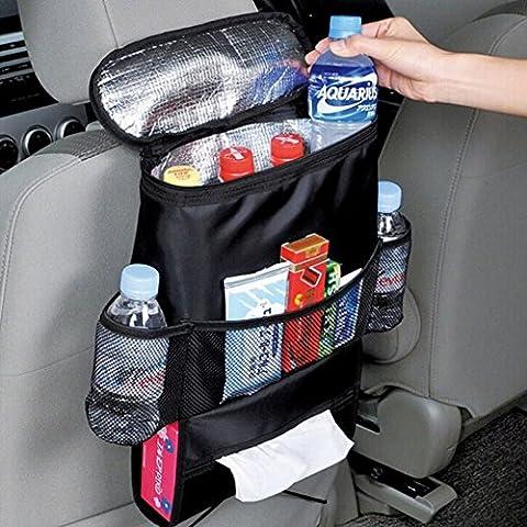 haoworld estándar asiento de coche de vuelta organizador, multibolsillos enfriador de viaje bolsa de almacenamiento, soporte para