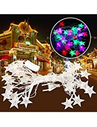 A2Z, 5Meter 20Silver/Golden LED Stars LED Light Decorative Twinkle Lights Diwali Christmas And Free Hand Shape...