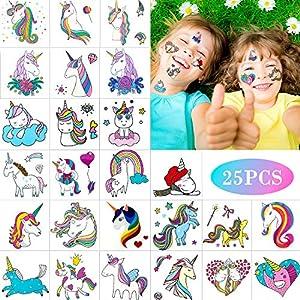 Unicornio Tatuajes Pegatinas Para Niños