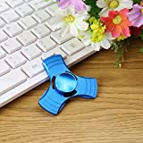Clytius Metal Blue Color - Tri Fidget Spinner - Fidget Spinner Toy - Stress Reducer - Tri-Spinner Toy/Hand Spinner Toy - High Qualtity Stainless Steel Bearing - Useful For ADHD Focus Anxiety Relief Toys - Spins Time Upto 1-3 Minutes - Ideal LIke Fidget Cu