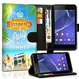 wicostar Wallet Book Style Flip Handy Tasche Case Schutz Hülle Schale Motiv Etui für Wiko Rainbow Jam - Variante UMV35 Design6