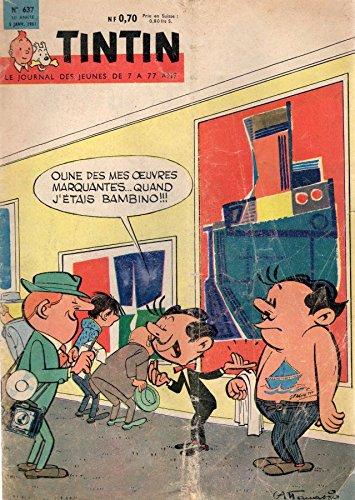 Tintin n° 637 - 5 janvier 1961 - couverture Attanasio