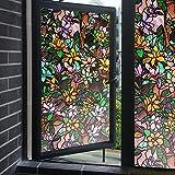 Decorativa privacy Pellicola finestre Elettricità statica Smerigliata pellicola finestre Colore opaco Nessuna colla Pellicola di vetro finestra dell'autoadesivo vetro autoadesivo bagno finestra carta-A 50x100cm(20x39inch)