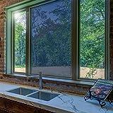 Sichtschutzfolie Hitzeschutz Sonnenschutzfolie Selbstklebende Spiegelfolie Fensterfolie Tönungsfolie Sichtschutz Wärmeisolierung UV-Schutz Silber 45 x 200 - 5