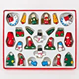 Gisela Graham : Decorazioni di Natale : Legno colorate decorazioni di Natale (scatola di 24)