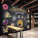 BIZHIGE Personalizzato 3D Dipinto A Mano Colazione Pane caffè Murale Ristorante Personalizzato Fast Food Ristorante Carta da Parati Corridoio Murale-360 × 230 Cm