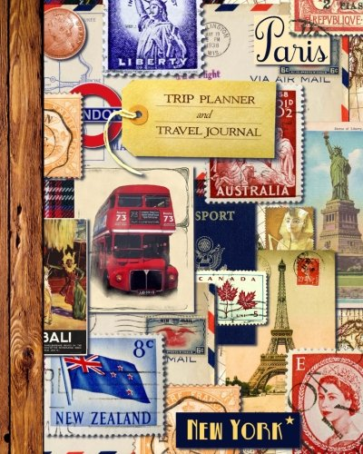 """Preisvergleich Produktbild Trip Planner and Travel Journal: Vacation Planner & Diary for 4 Trips,  with Checklists,  Itinerary & more [ Softback Notebook * Large (8"""" x 10"""") * Collage (Reisetagebuch) ] (Travel Gifts)"""