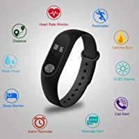 Limeswood M2 Intelligence Bluetooth Health Wrist Smart Band Support for All Smartphones (Assorted Colour)
