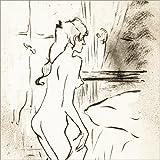 Poster 30 x 30 cm: nacktes junges Mädchen von Henri de