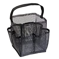 InterDesign Una Bathroom Mesh Shower Caddy for Shampoo, Conditioner, Soap Carry All Black 55781-Parent