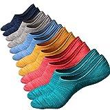 Ueither Calzini Uomo in cotone Taglio Bsso Invisibili Casuale alla Caviglia Antiscivolo (Taglia di scarpe:38-44, Colore 3 (6 Coppie))