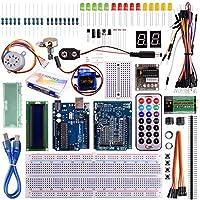Kuman K11 Starter Learning Kit Kits Board Super Projectors with UNO R3 LCD Servo Motor Sensor for Arduino AVR Starter Beginners (34 Components)