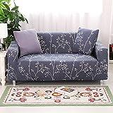FORCHEER Sofabezug Elastische Sofahusse Sesselbezug Stretchhusse Sofaüberwurf Couch Husse mit 4 Größe (2-Sitzer, Pattern #DD)