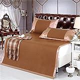 Ventosa Summer Sleeping Pad Biancheria da letto Bamboo Cuscino Materasso Tre set di Double-sided Pieghevole di raffreddamento senza rughe Aria condizionata Pad Aria condizionata Materasso del letto
