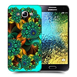 Snoogg Fractal Abysses Abstract Printed Protective Phone Back Case Cover ForSamsung Galaxy E5